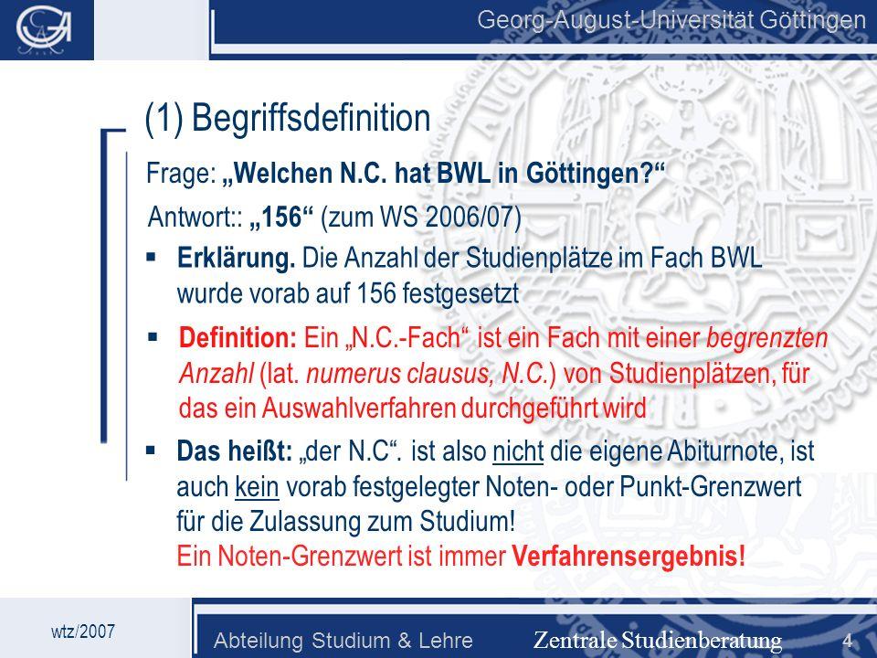 (1) Begriffsdefinition