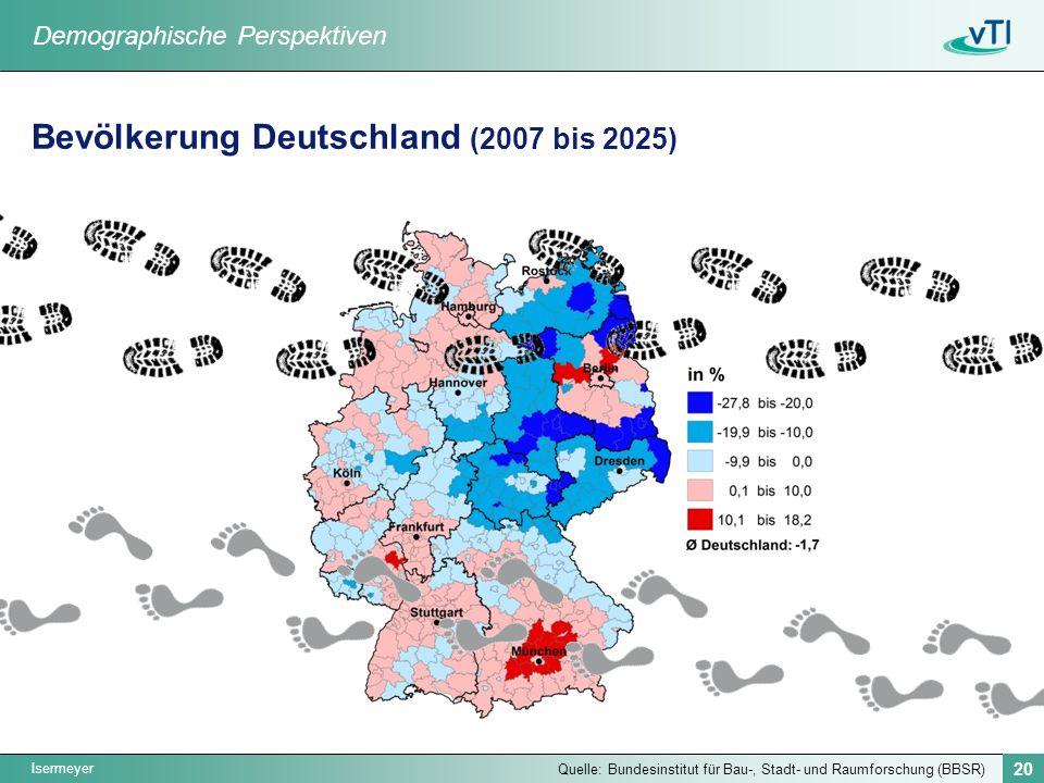 Bevölkerung Deutschland (2007 bis 2025)