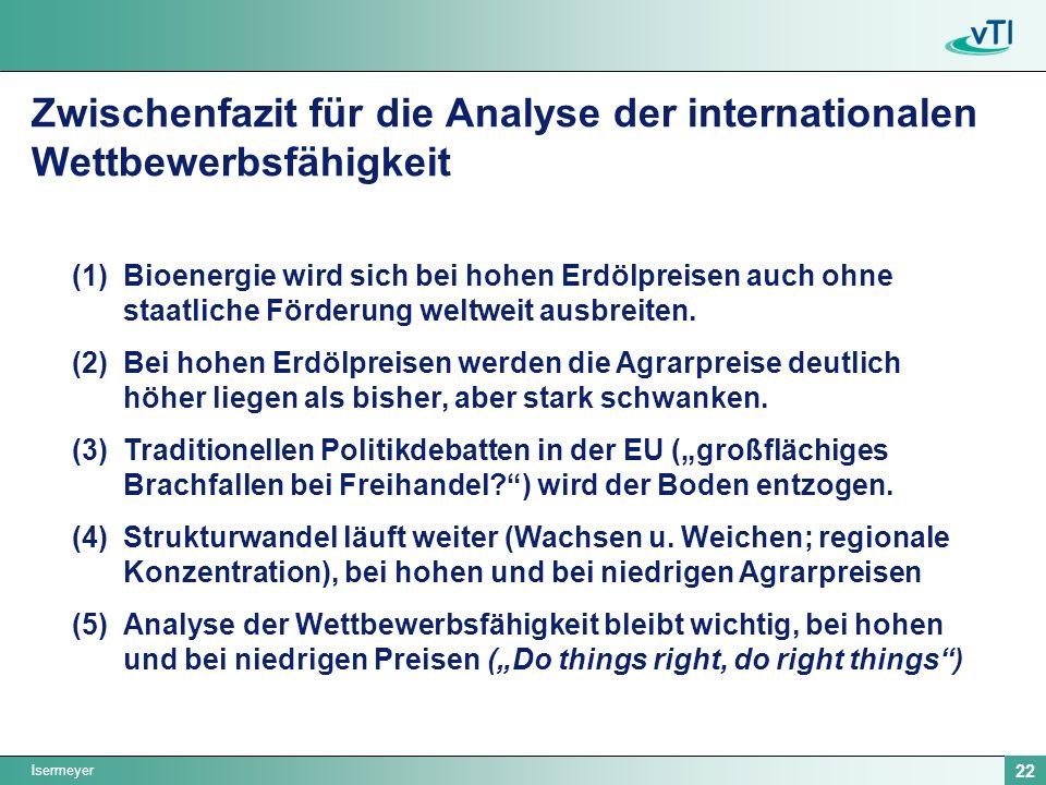 Zwischenfazit für die Analyse der internationalen Wettbewerbsfähigkeit