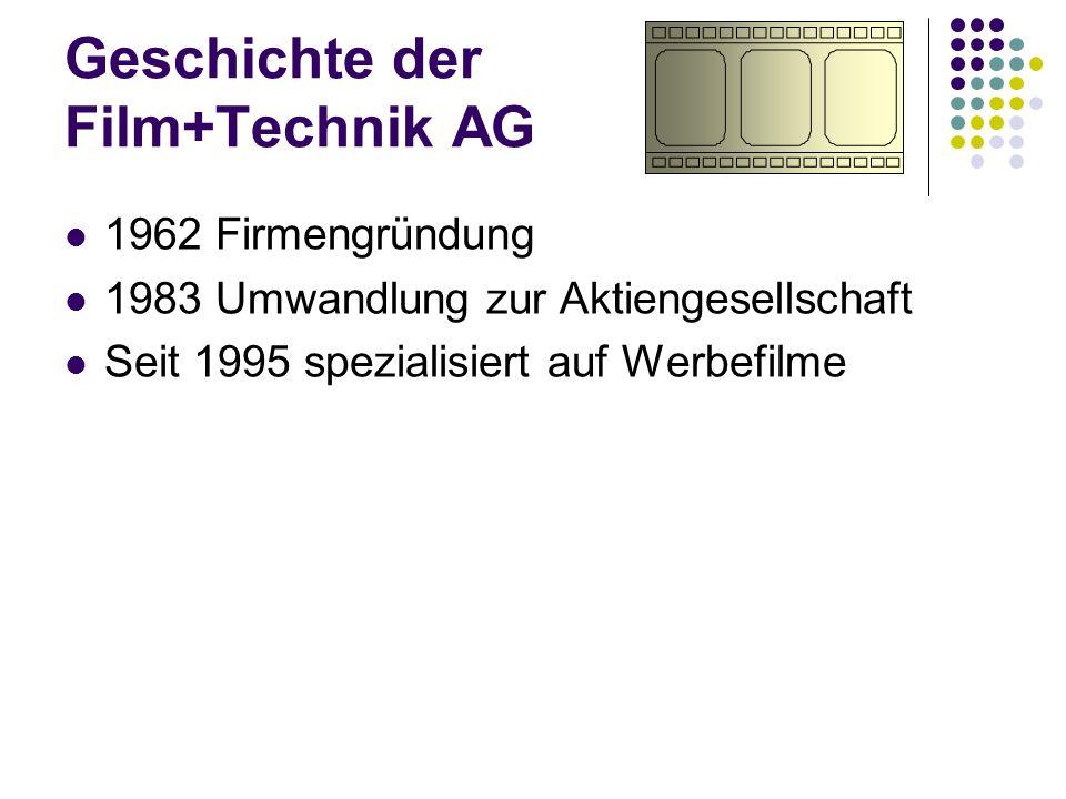 Geschichte der Film+Technik AG