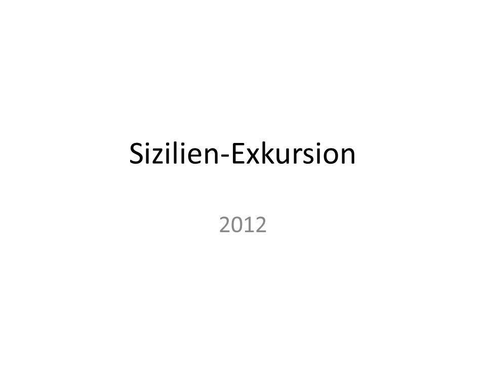 Sizilien-Exkursion 2012