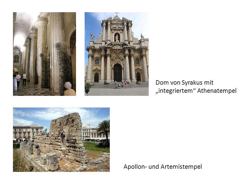 "Dom von Syrakus mit ""integriertem Athenatempel Apollon- und Artemistempel"