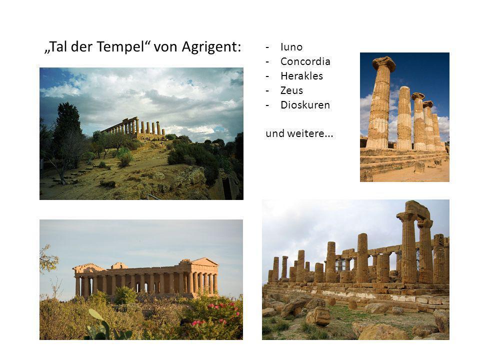 """""""Tal der Tempel von Agrigent:"""