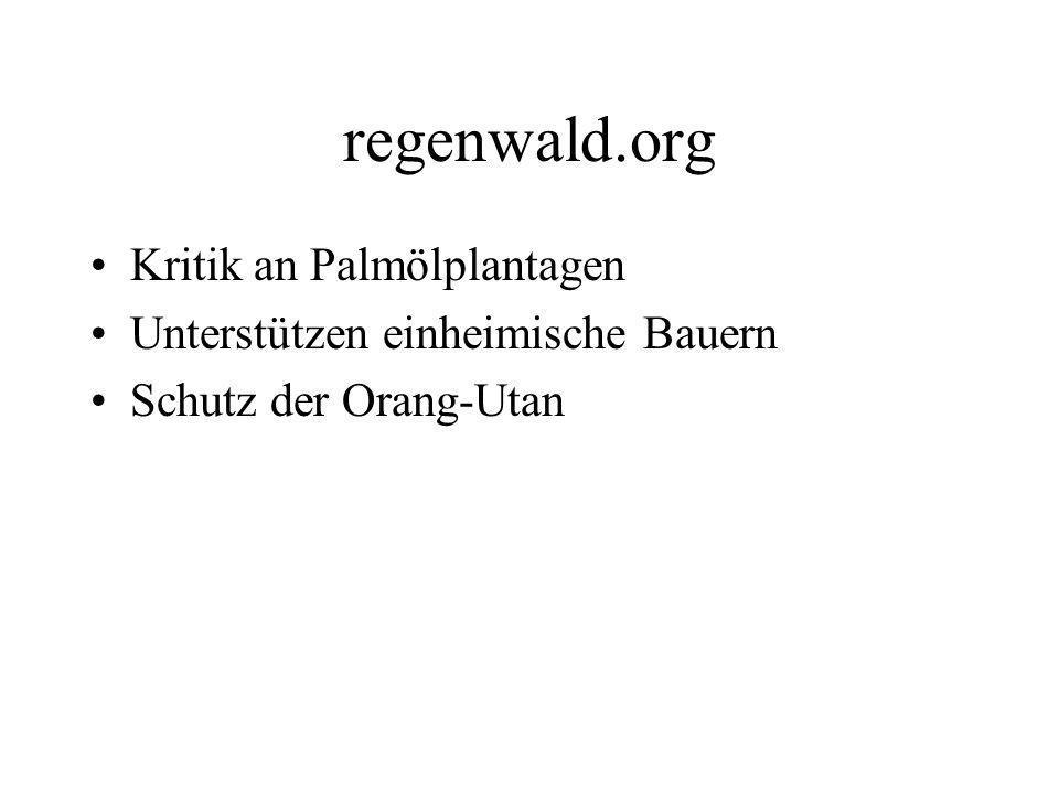 regenwald.org Kritik an Palmölplantagen
