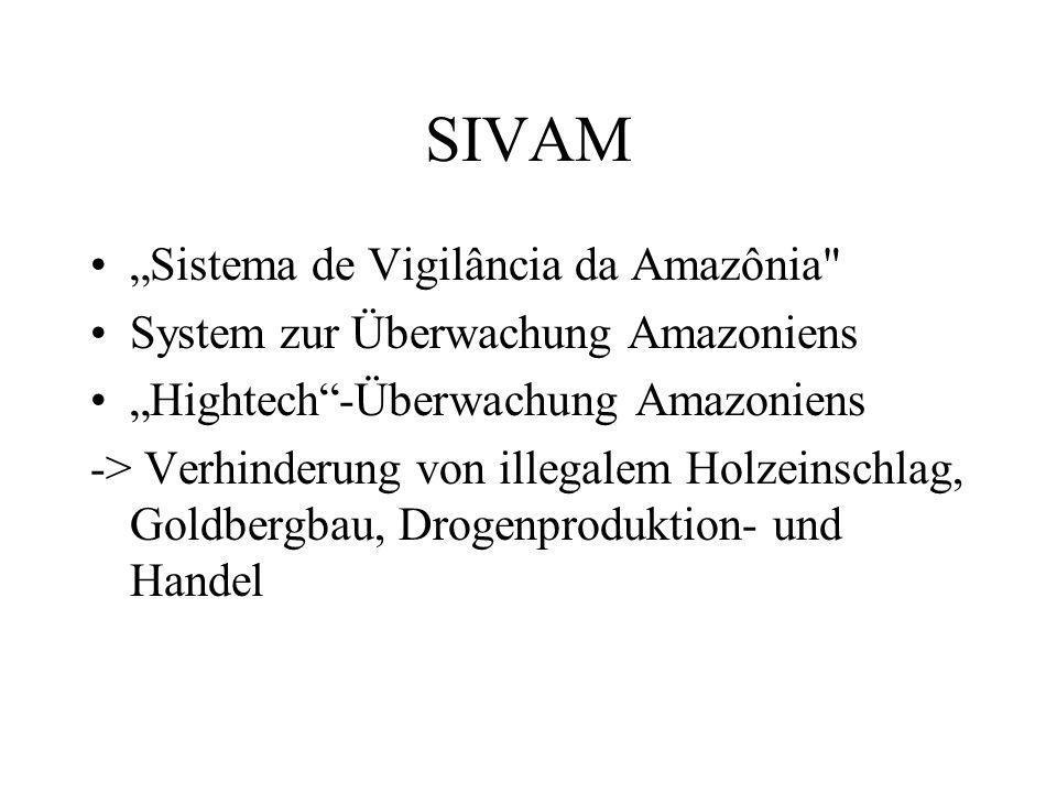 """SIVAM """"Sistema de Vigilância da Amazônia"""