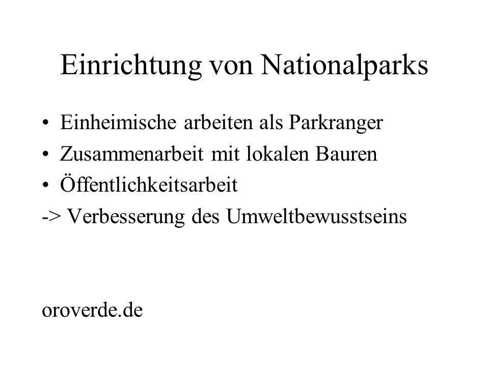 Einrichtung von Nationalparks