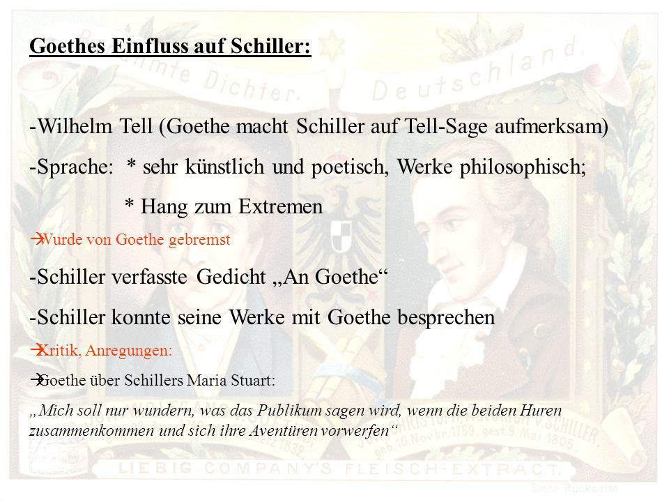 Goethes Einfluss auf Schiller:
