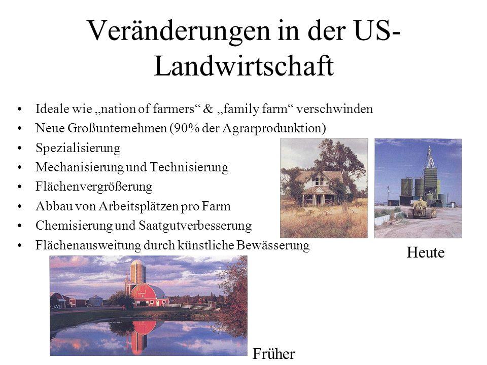 Veränderungen in der US-Landwirtschaft