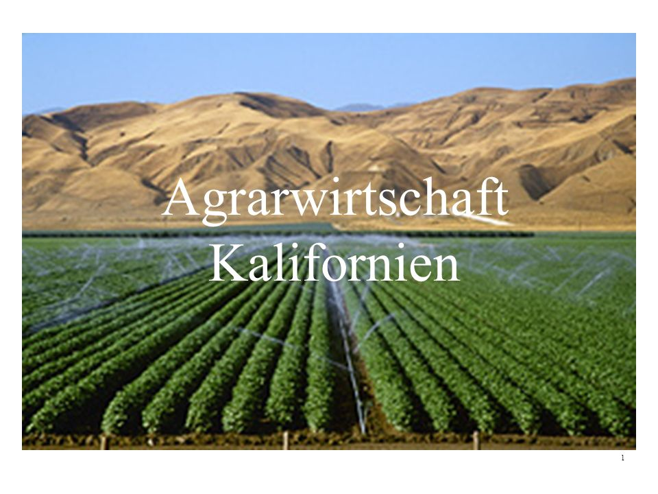 Agrarwirtschaft Kalifornien