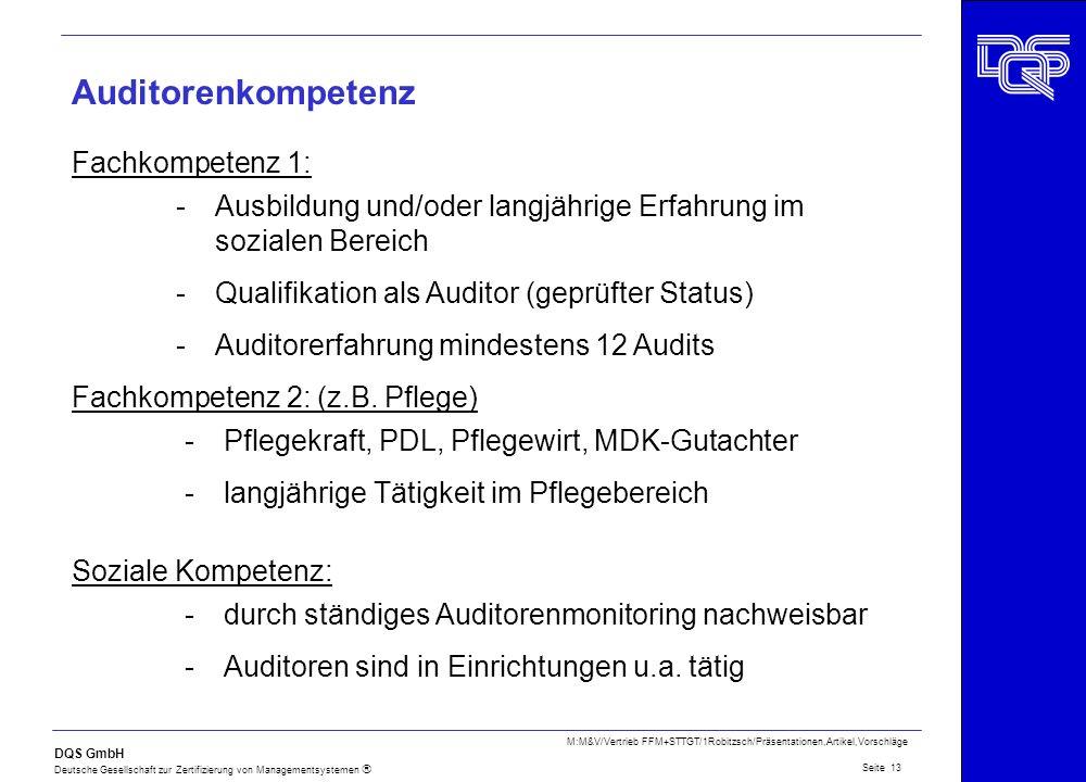 Auditorenkompetenz Fachkompetenz 1: