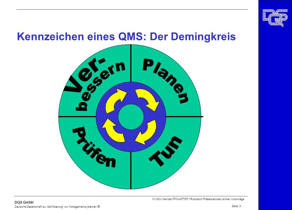 Kennzeichen eines QMS: Der Demingkreis