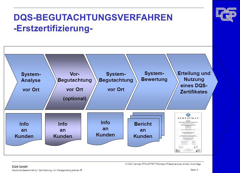 Erteilung und Nutzung eines DQS- Zertifikates