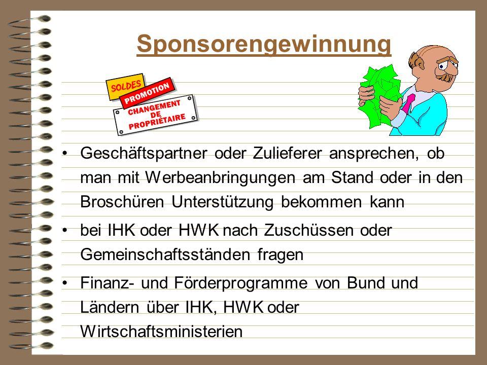 Sponsorengewinnung