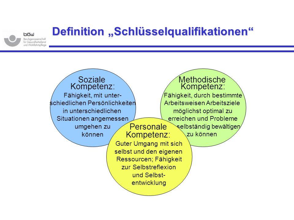 """Definition """"Schlüsselqualifikationen"""