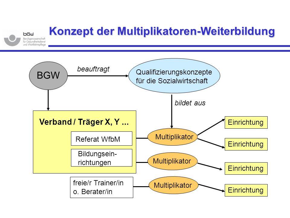 Konzept der Multiplikatoren-Weiterbildung