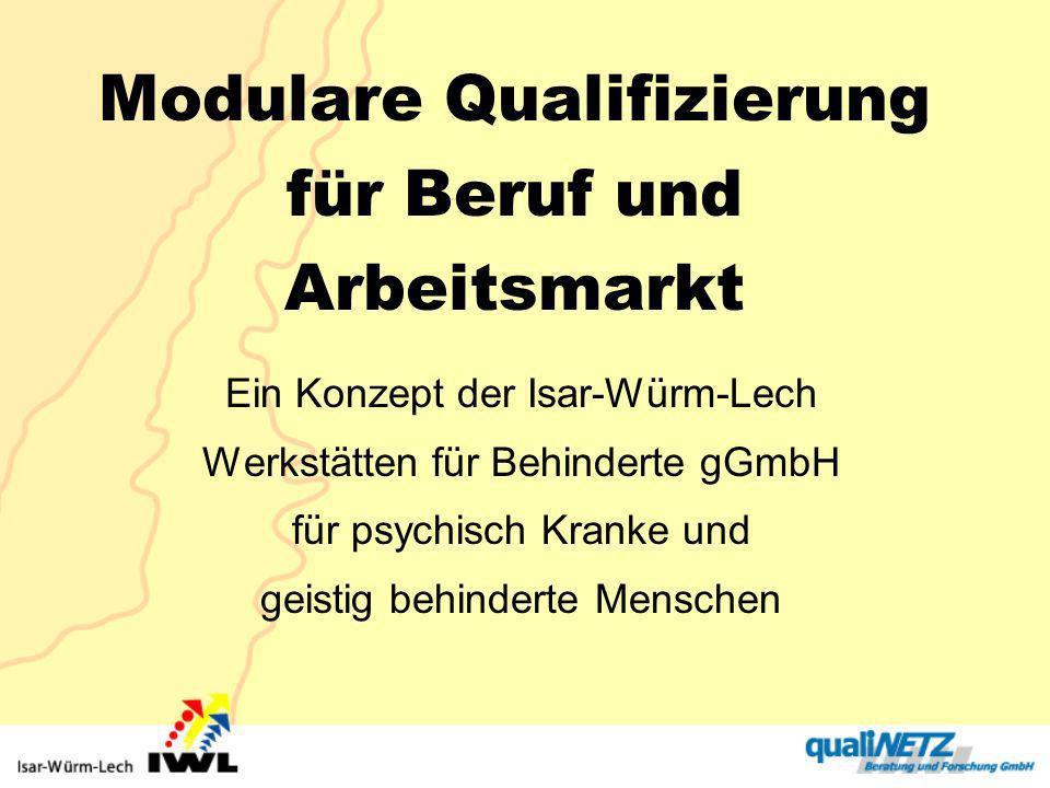 Modulare Qualifizierung für Beruf und Arbeitsmarkt