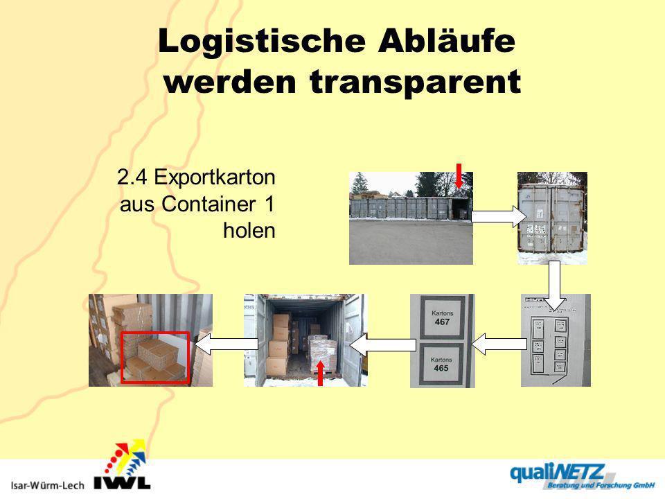 2.4 Exportkarton aus Container 1 holen