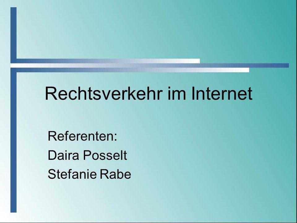 Rechtsverkehr im Internet