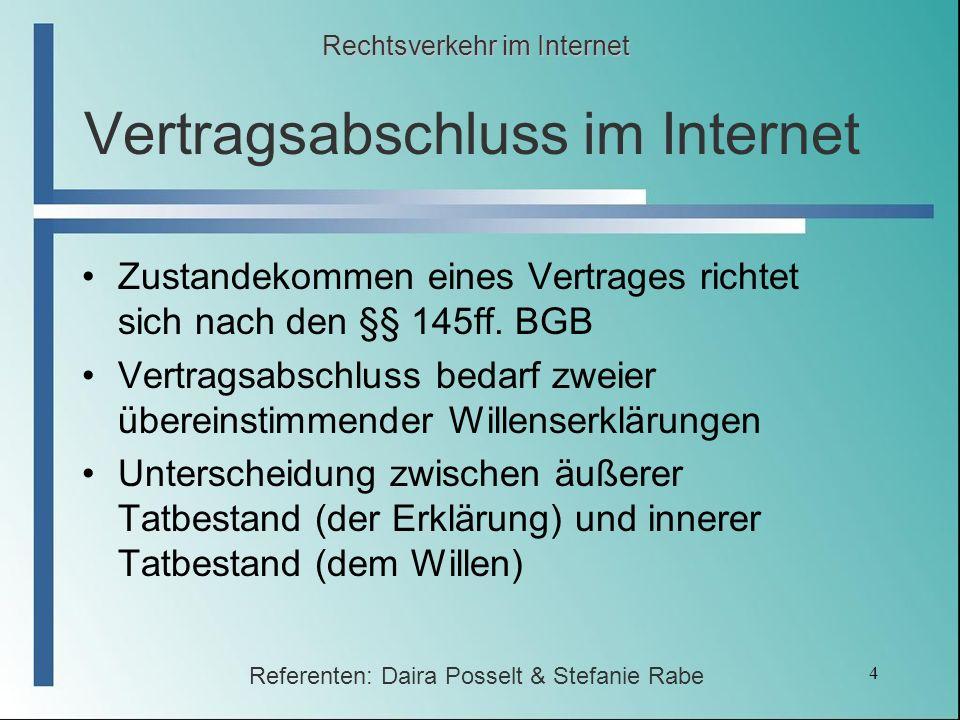 Vertragsabschluss im Internet