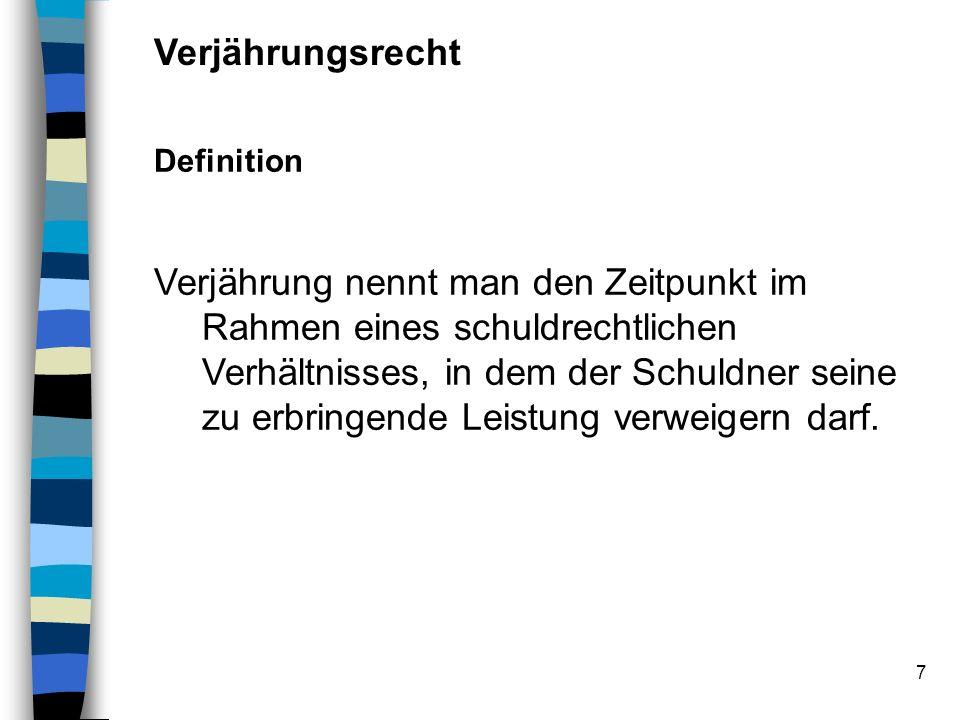VerjährungsrechtDefinition.