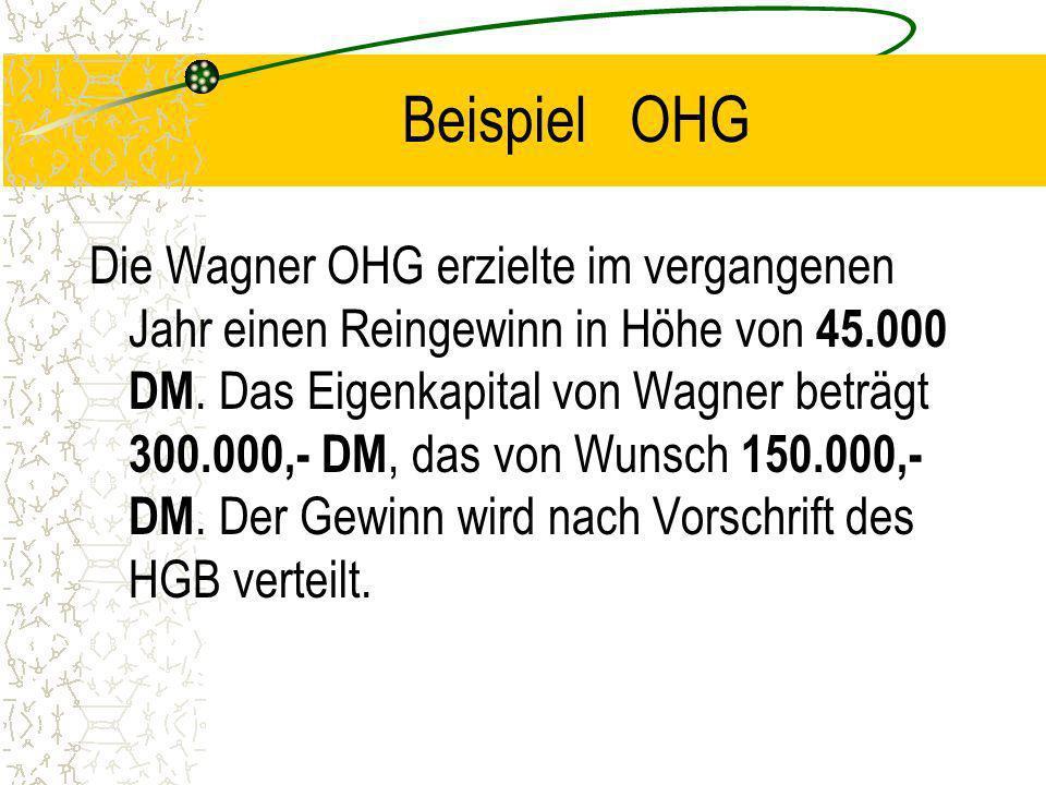 Beispiel OHG
