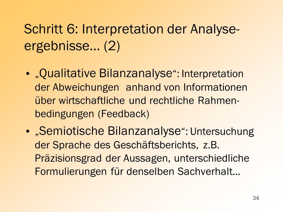 Schritt 6: Interpretation der Analyse-ergebnisse... (2)