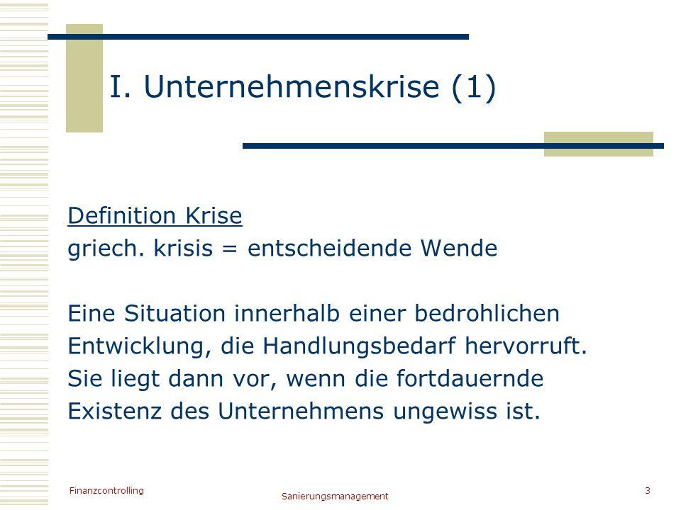 I. Unternehmenskrise (1)