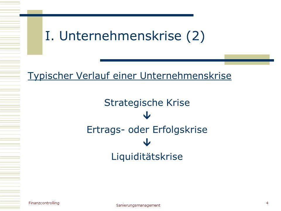 I. Unternehmenskrise (2)