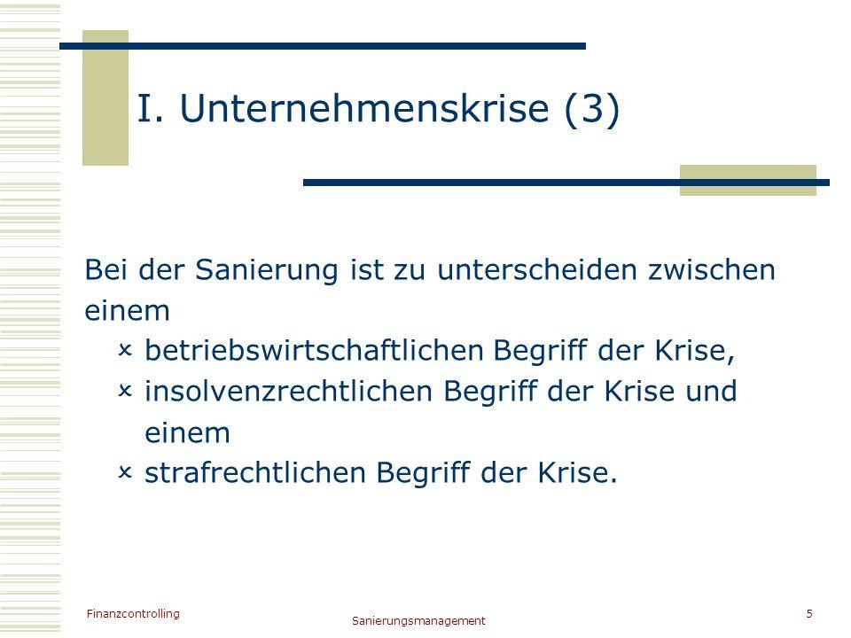 I. Unternehmenskrise (3)