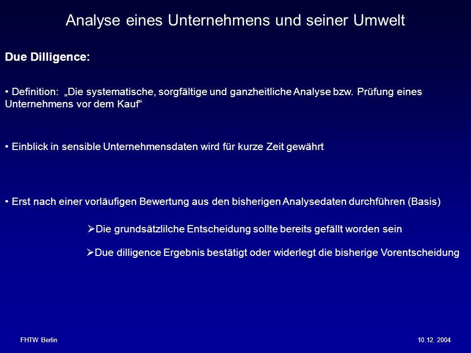 Analyse eines Unternehmens und seiner Umwelt