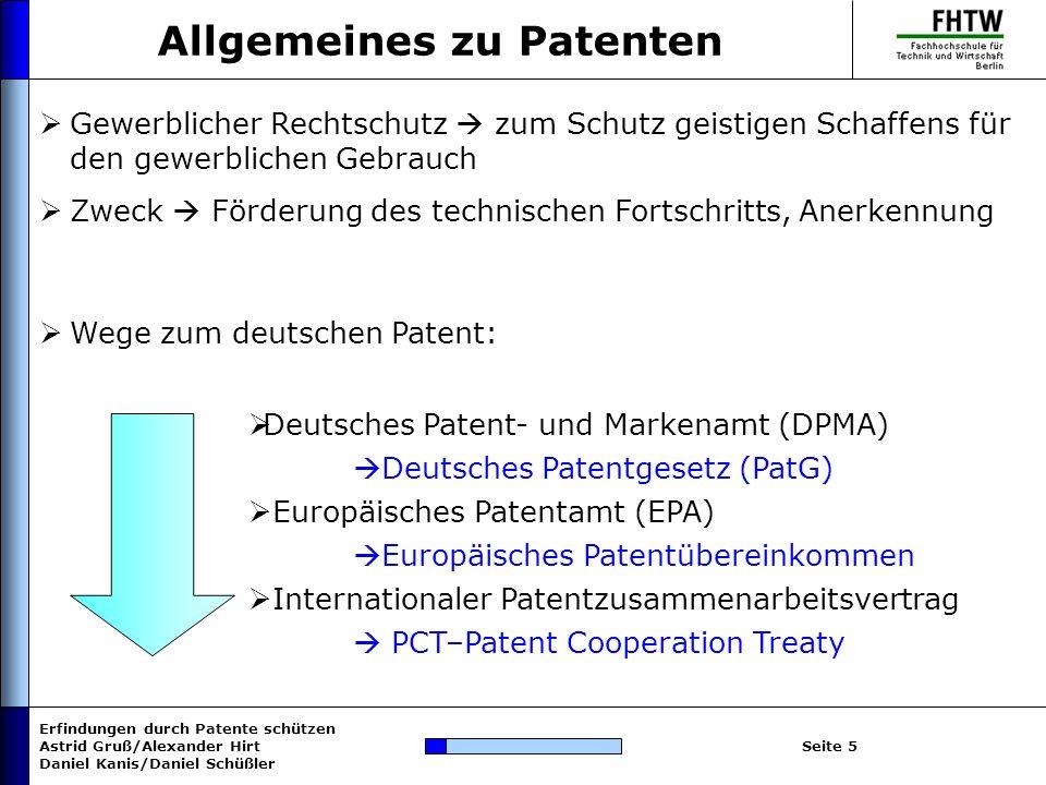 Allgemeines zu Patenten