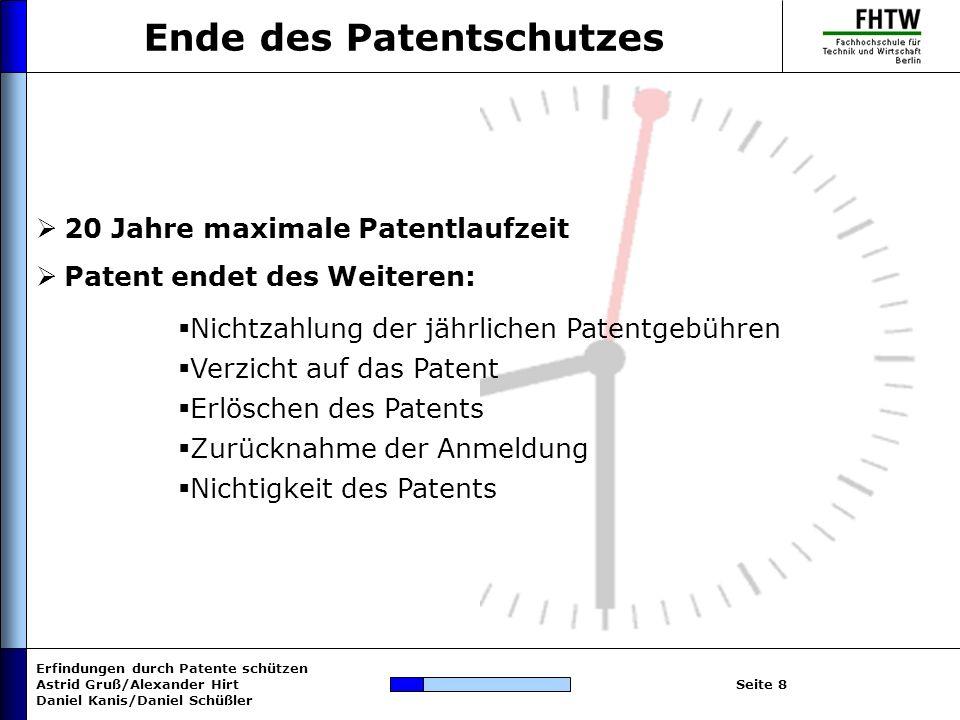Ende des Patentschutzes
