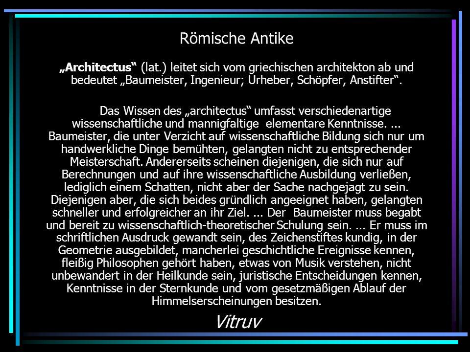 Vitruv Römische Antike