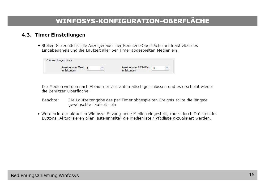 WINFOSYS-KONFIGURATION-OBERFLÄCHE