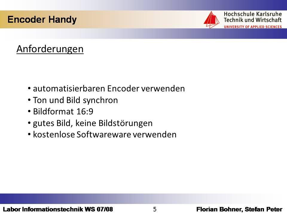 Anforderungen automatisierbaren Encoder verwenden