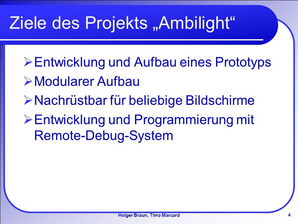 "Ziele des Projekts ""Ambilight"