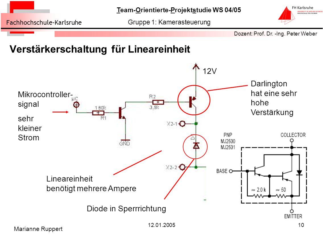 Verstärkerschaltung für Lineareinheit