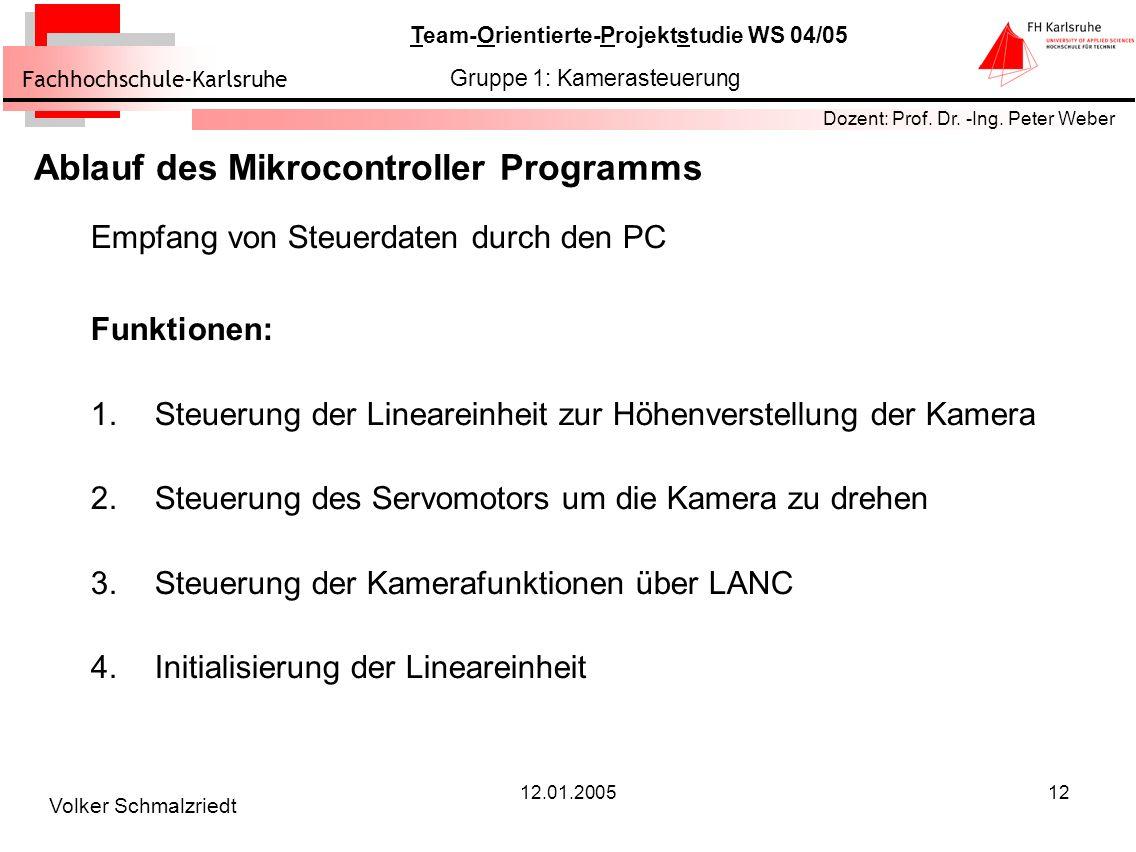 Ablauf des Mikrocontroller Programms