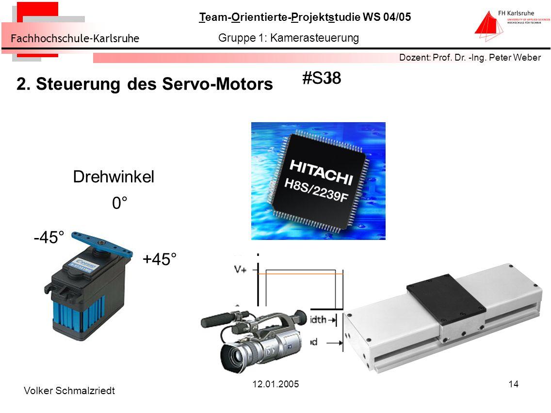 2. Steuerung des Servo-Motors