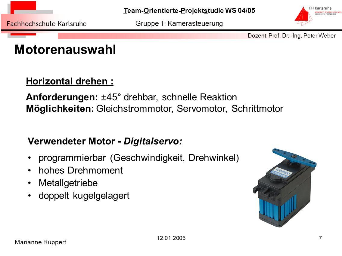 Motorenauswahl Horizontal drehen :