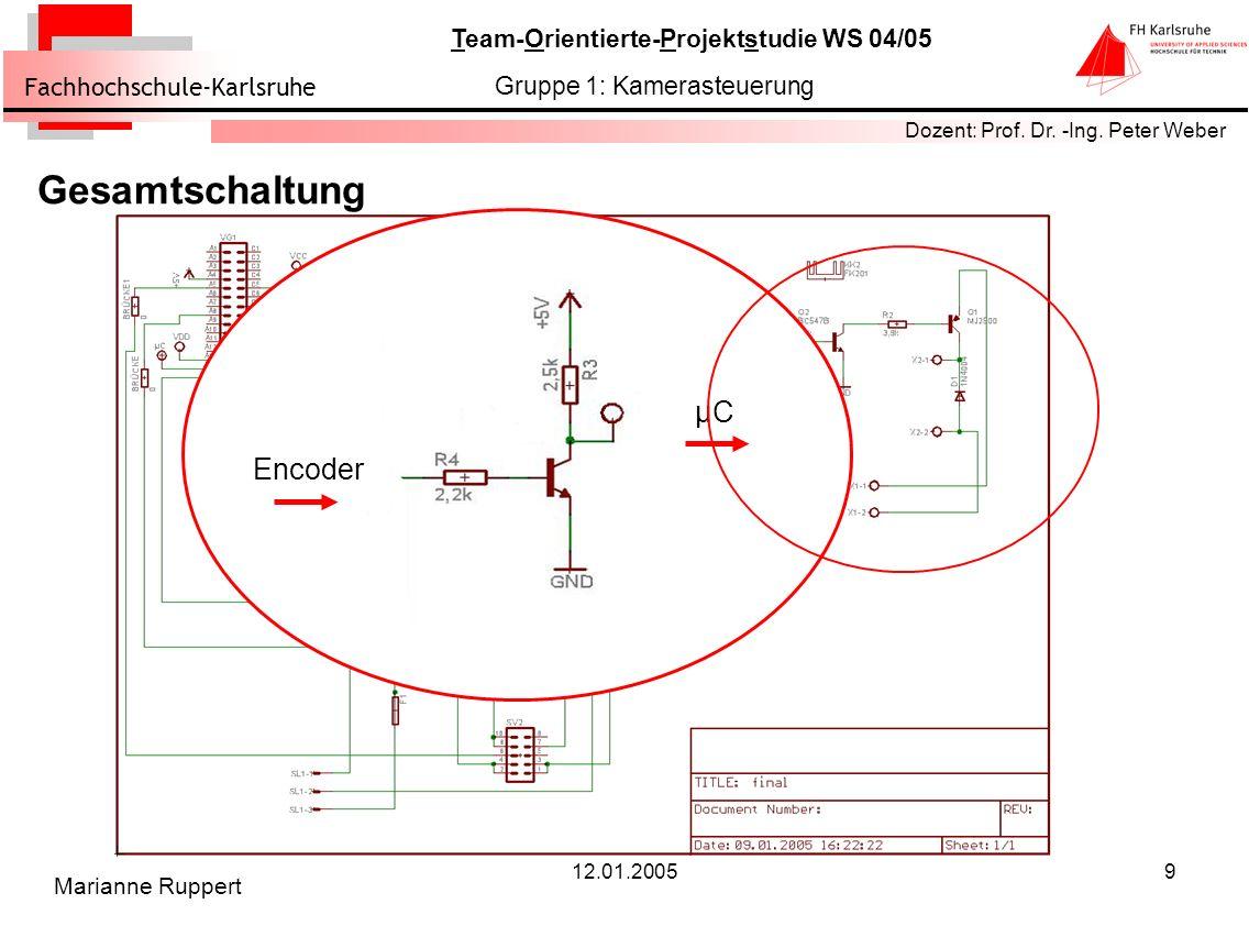 Gesamtschaltung Encoder µC 12.01.2005 Marianne Ruppert