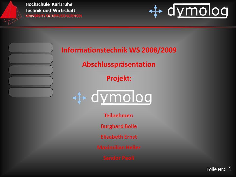 Informationstechnik WS 2008/2009 Abschlusspräsentation