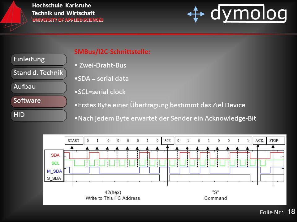 SMBus/I2C-Schnittstelle: