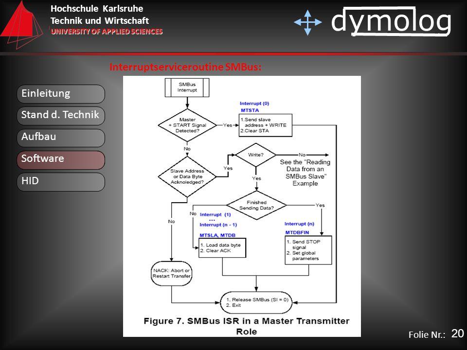 Interruptserviceroutine SMBus: