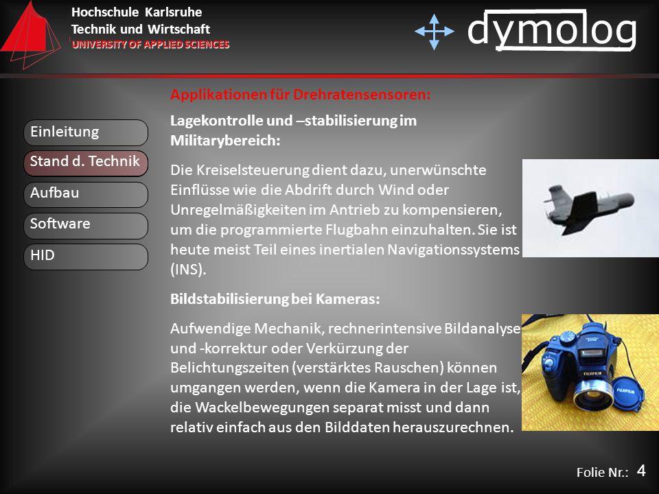 Applikationen für Drehratensensoren: