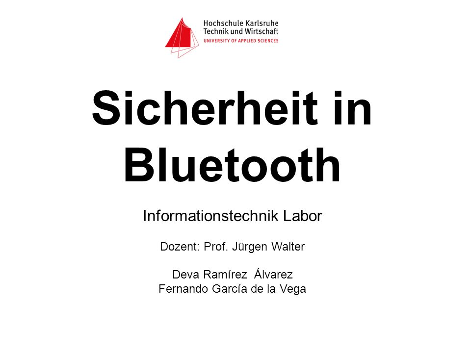 Sicherheit in Bluetooth