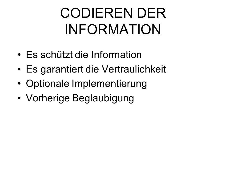 CODIEREN DER INFORMATION