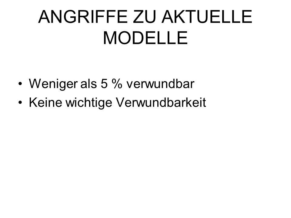 ANGRIFFE ZU AKTUELLE MODELLE