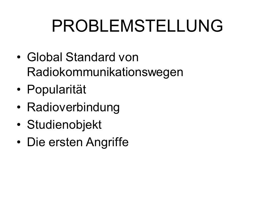 PROBLEMSTELLUNG Global Standard von Radiokommunikationswegen