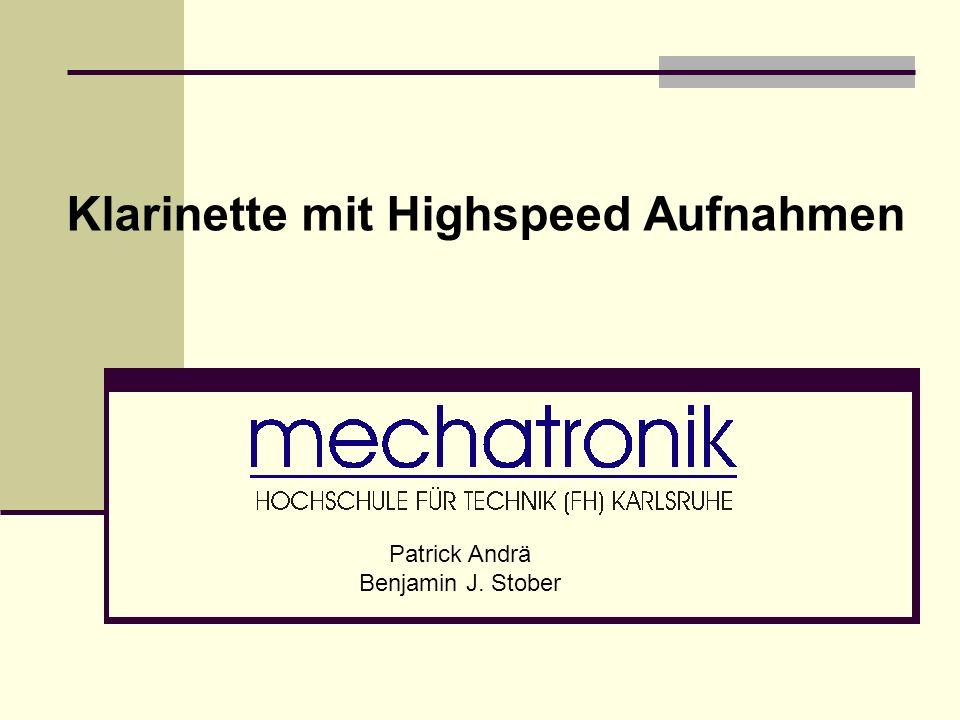 Klarinette mit Highspeed Aufnahmen